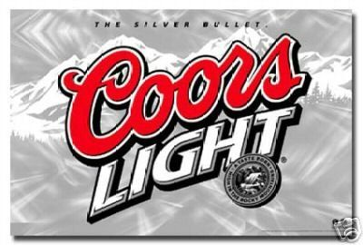 Coors Logo - Coors Light Logo Poster the Silver Bullet Rare 24x36: Amazon.co.uk ...