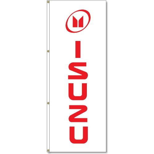 Isuzu Logo - Buy 3x8 ft. Vertical Isuzu Logo Flag - 3'x8' Vertical Logo Flags ...