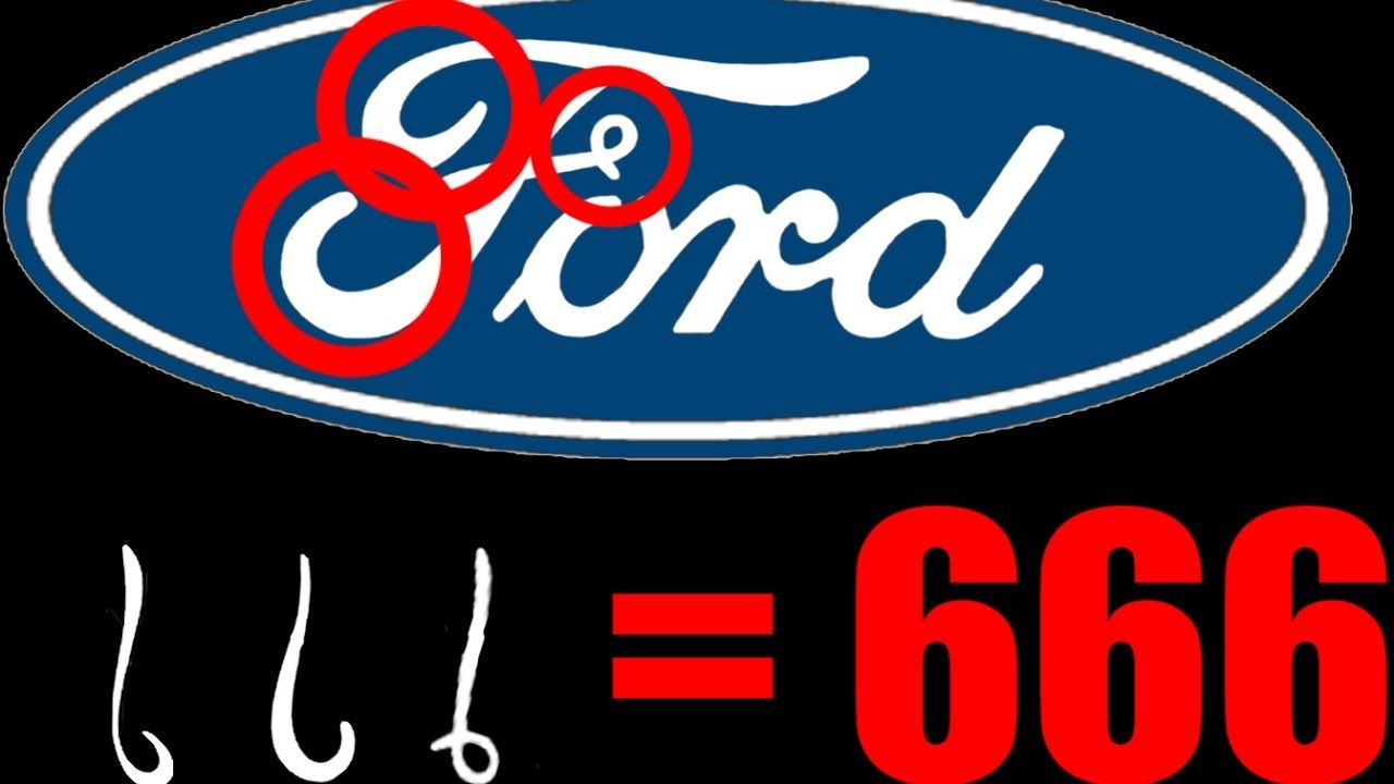 666 Logo - WOW!! ANIMATION 666 REVEALED hidden OCCULT numerology in FORD Logo ...