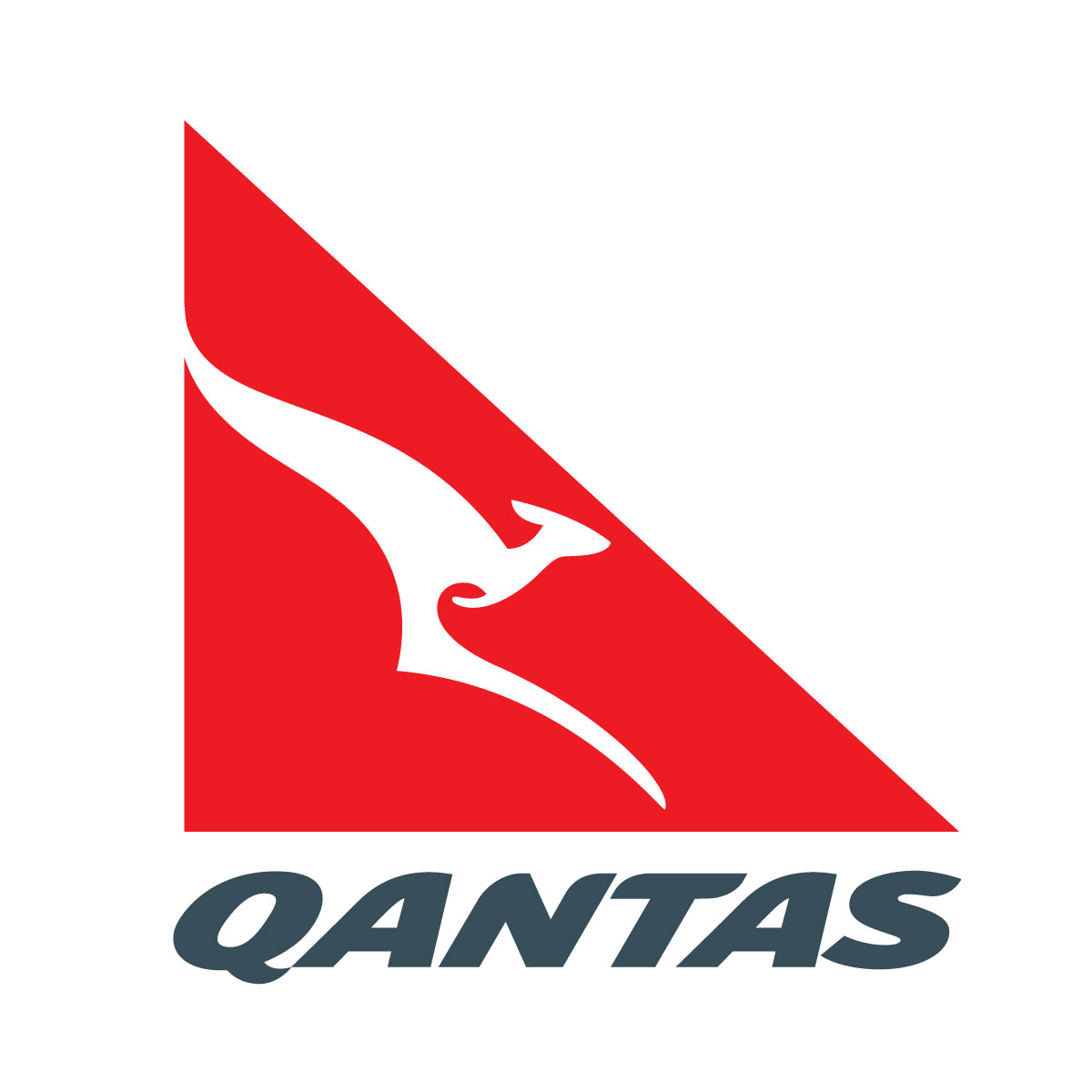 White with Red Triangle Kangaroo Logo - LogoDix