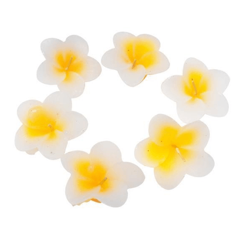 Yellow Flower Shaped Logo - Unique Yellow Flower Shaped Floating Candles at Rs 279 /pack ...