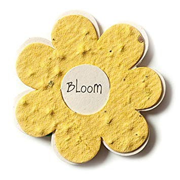 Yellow Flower Shaped Logo - Amazon.com: Bloomin Mini Yellow Flower-Shaped Seed Paper Enclosure ...