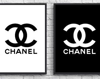 Chanel Black And White Logo Loix
