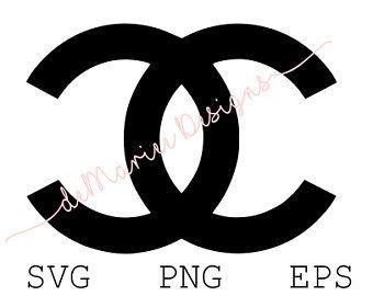 Chanel Black And White Logo Loix