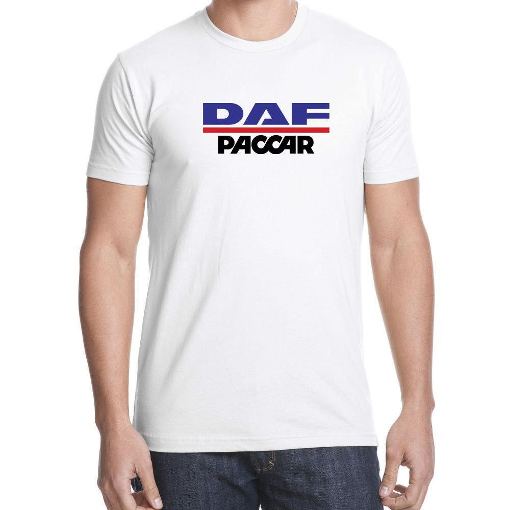 PACCAR Logo - DAF PACCAR LOGO TRUCK BRAND Men White T Shirt 100% Cotton ...