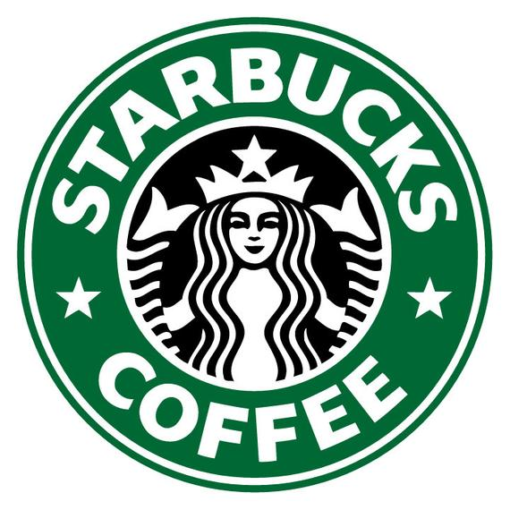 Starbucks Logo - ID: SP00021 Starbucks Coffee LOGO with Surrounding Letter | Etsy