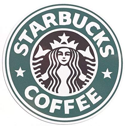 Starbucks Logo - Amazon.com: LandCAR Starbucks Logo Sticker Predecessor Waterproof ...
