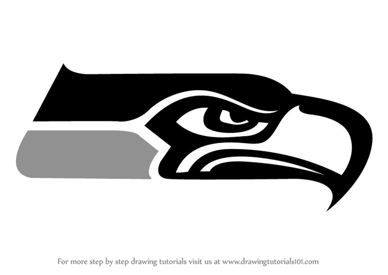 Black And White Seahawks Logo Logodix
