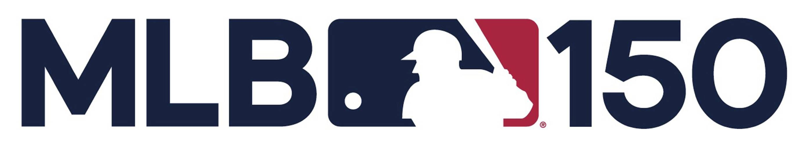 MLB Logo - MLB's 150th anniversary logo features silhouetted batter