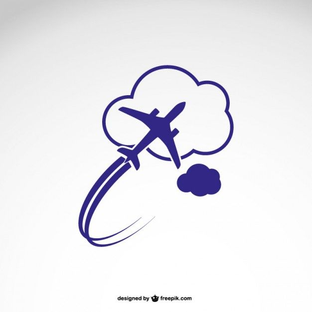 Airplanes Logo - Logo template with airplane Vector | Free Download