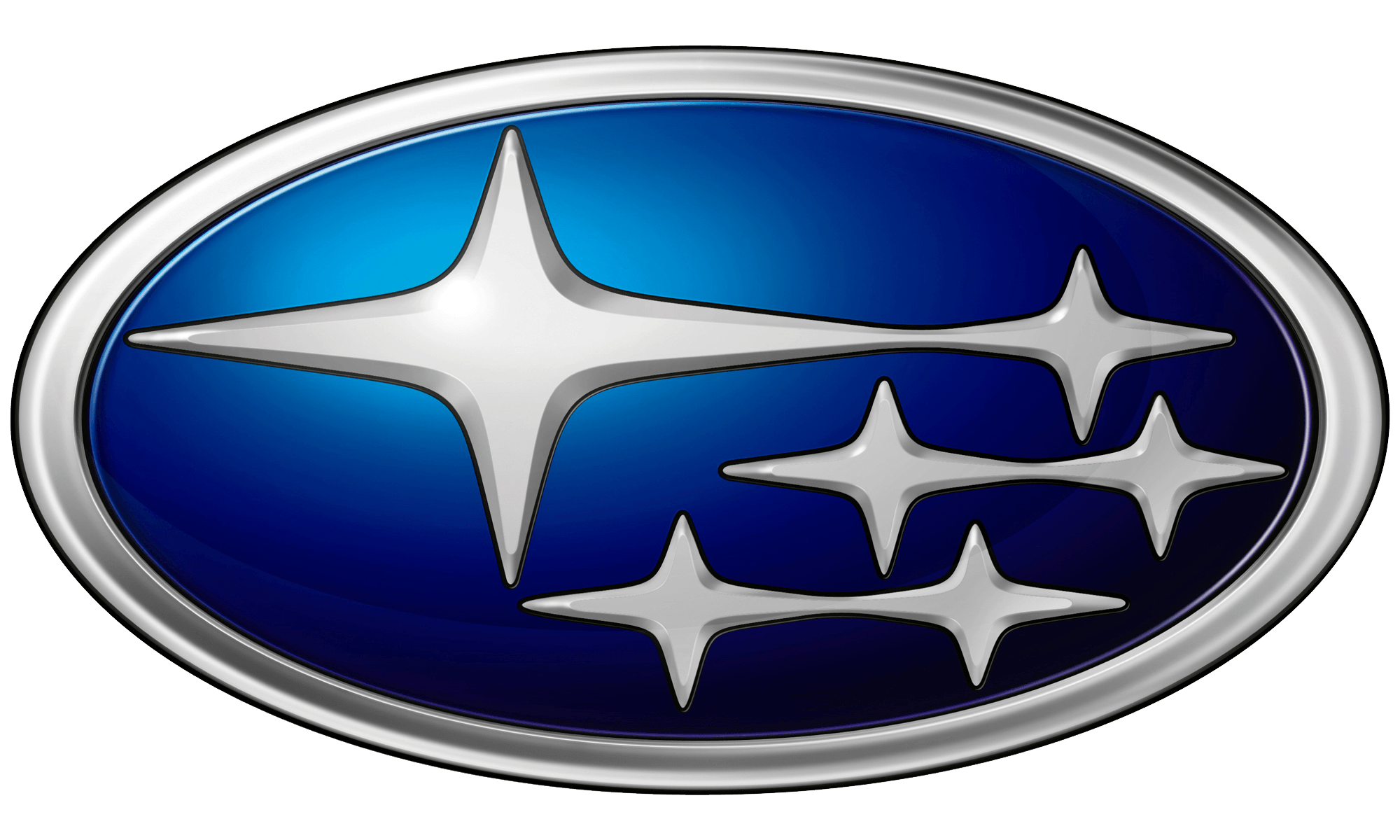 Blue and Silver Car Logo - Subaru Logo, Subaru Car Symbol Meaning and History | Car Brand Names.com