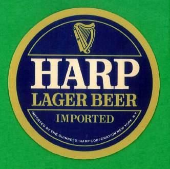 Harp Beer Logo - Harp Lager Beer Coaster | Imported by The Guinness Harp Co. | Flickr