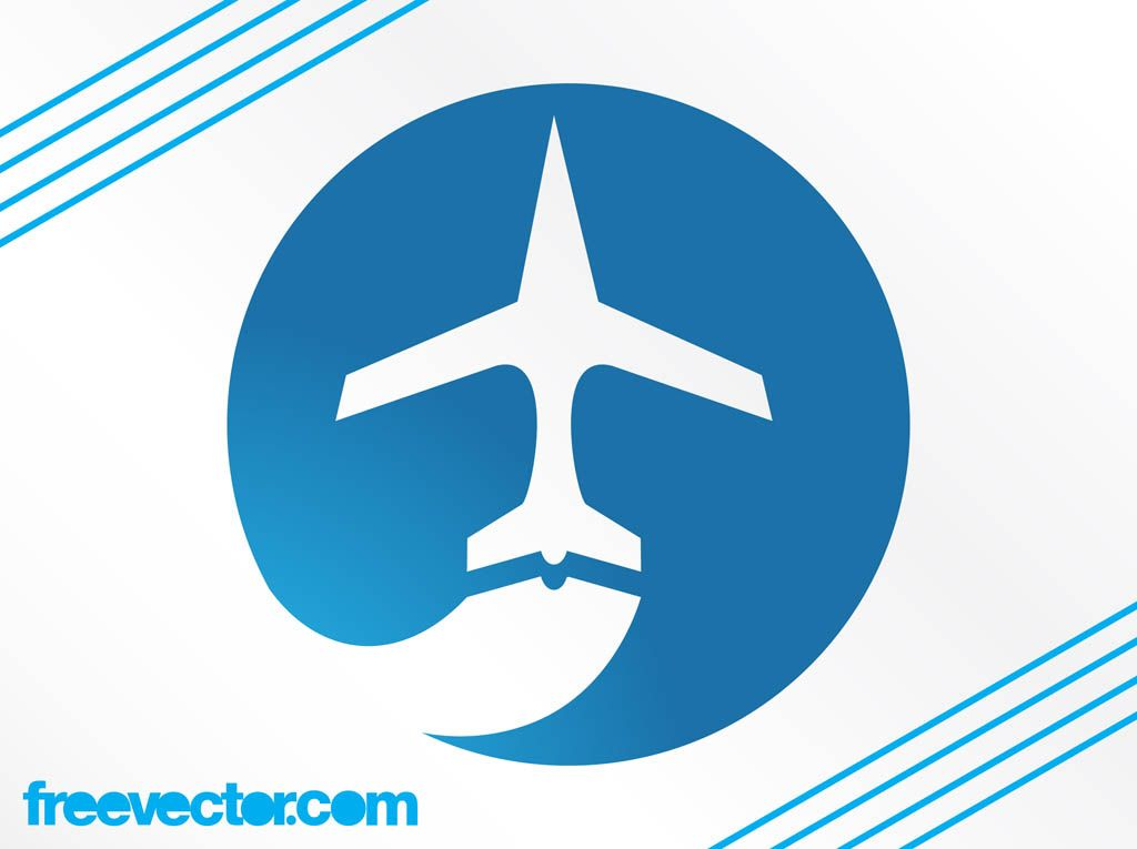 Airplanes Logo - Airplane Logo Graphics Vector Art & Graphics | freevector.com