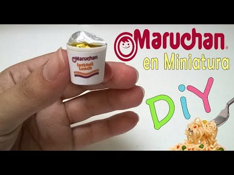 Maruchan Logo - Tutorial Maruchan en miniatura , Miniature doll - YouTube
