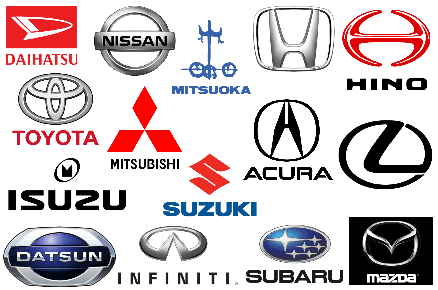 Chinese Car Brands Logo - Japanese Car Brands, Companies and Manufacturers | Car Brand Names.com