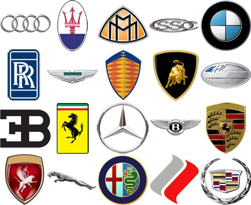 Exotic Car Brand Logo - High End Car Brands by their Logos Quiz - By diving