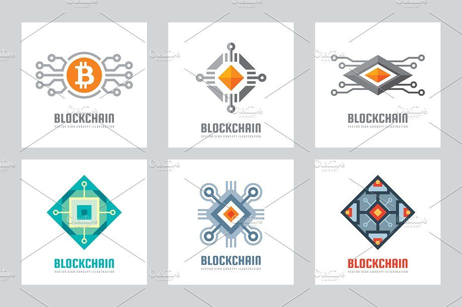 Blockchain Logo - Blockchain Cryptocurrency Logo