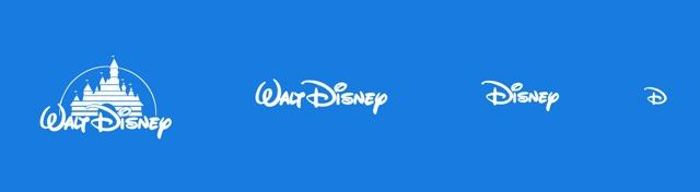 Disney Logo - Responsive logos and abstraction in design
