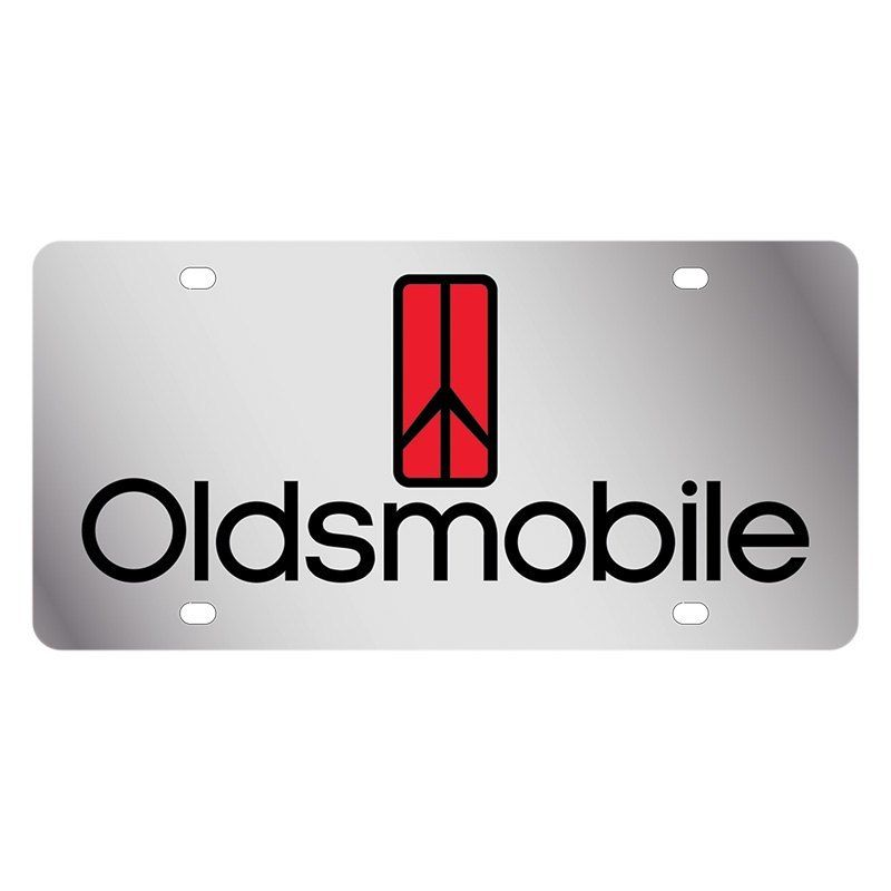 Oldsmobile Logo - Eurosport Daytona® - GM License Plate with Oldsmobile Logo and ...