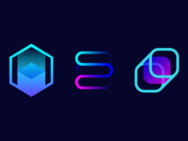 Blockchain Logo - Blockchain Logo Explorations by Evan Luza | Dribbble | Dribbble