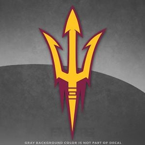 ASU Logo - Arizona State ASU Logo Vinyl Decal Sticker - 4