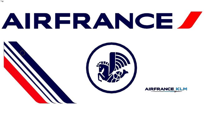 Air France Logo - Air France logo | 3D Warehouse