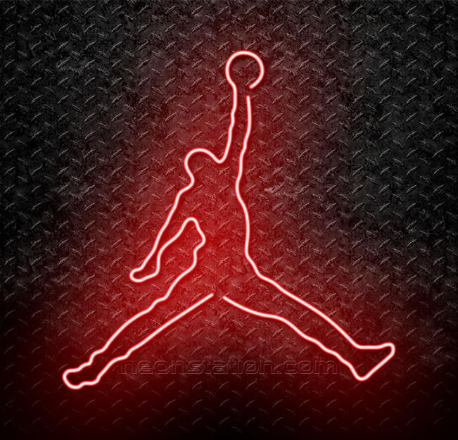 Jordan Logo - Buy NBA Michael Jordan Jumpman Logo Neon Sign Online // Neonstation