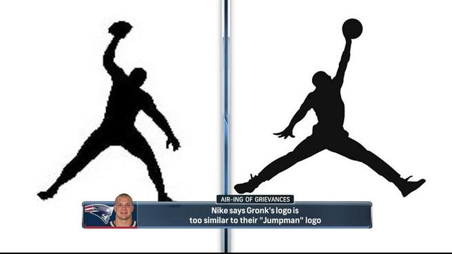 Jordan Logo - Nike says Rob Gronkowski logo is too similar to Michael Jordan logo ...