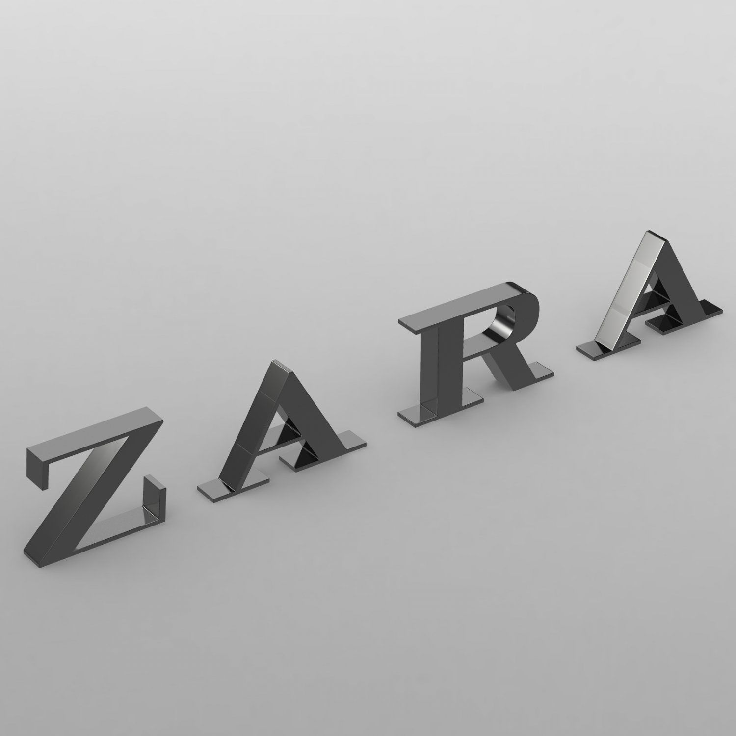 Zara Logo - Zara logo 3D Model in Clothing 3DExport