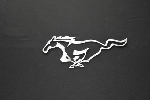Mustang Logo - Ford Mustang Logo sign Metal sign small / Metal car garage | Etsy