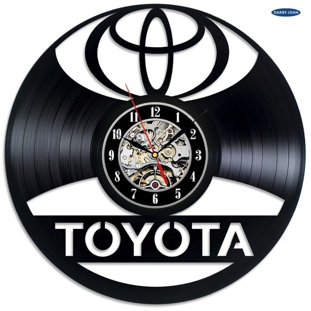 Toyota Logo - Toyota Logo Vinyl Record Wall Clock Decorate your home with Modern ...