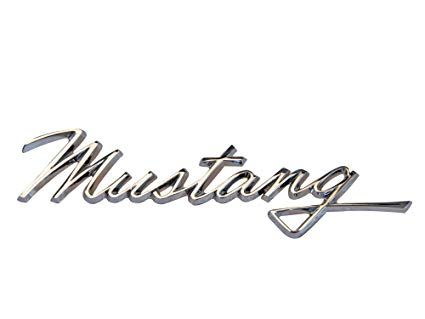 Mustang Logo - Amazon.com: Mustang Fender Emblem Mustang Script 1968: Automotive