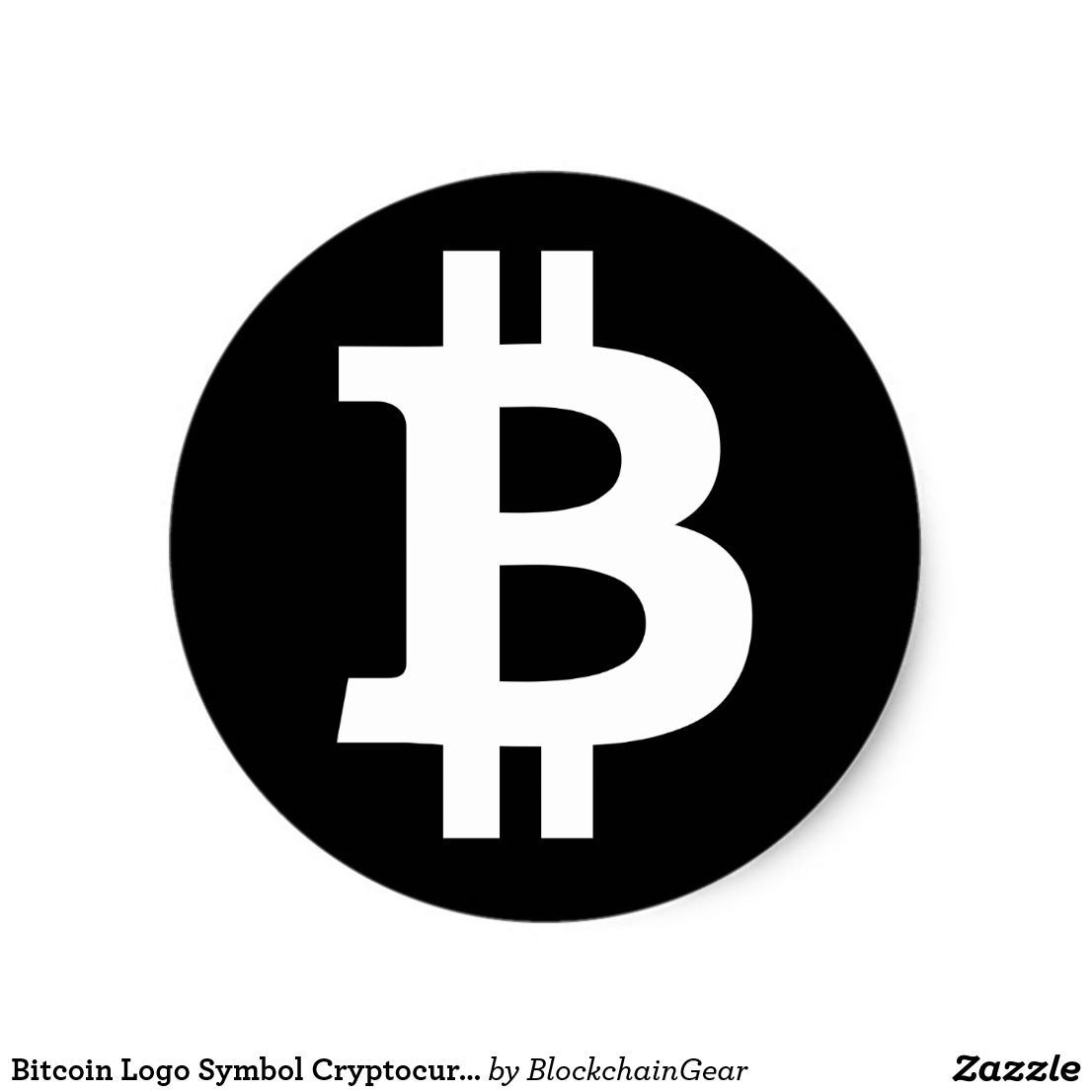 Bitcoin Logo - Bitcoin Logo Symbol Cryptocurrency Crypto Sticker | Blockchain Gear ...