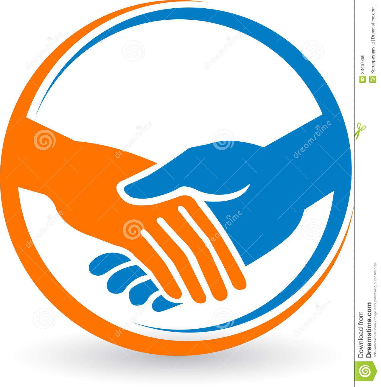 Orange Hand Logo - Hand Shake Logo - Download From Over 41 Million High Quality Stock ...