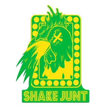 Shake Junt Logo - Shake Junt Chicken Guts Sticker in stock at SPoT Skate Shop
