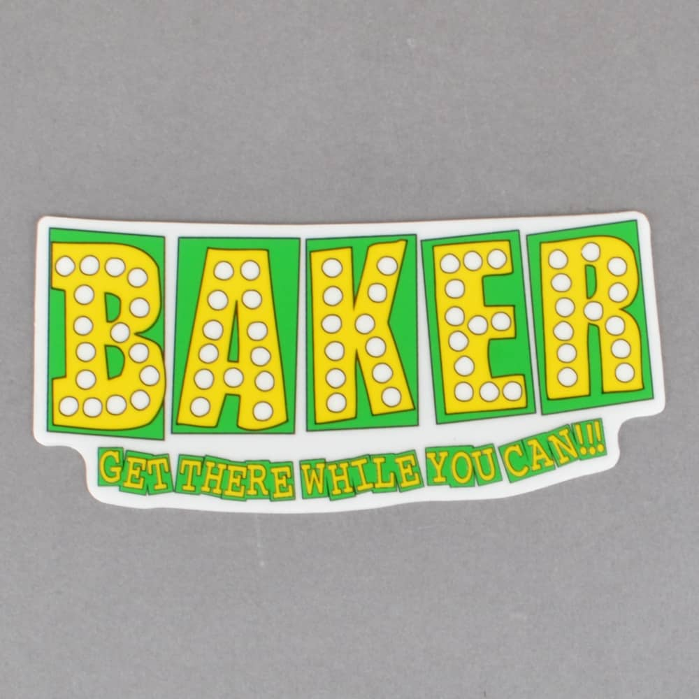 Shake Junt Logo - Shake Junt Bake Junt Skateboard Sticker - Green/Yellow - ACCESSORIES ...