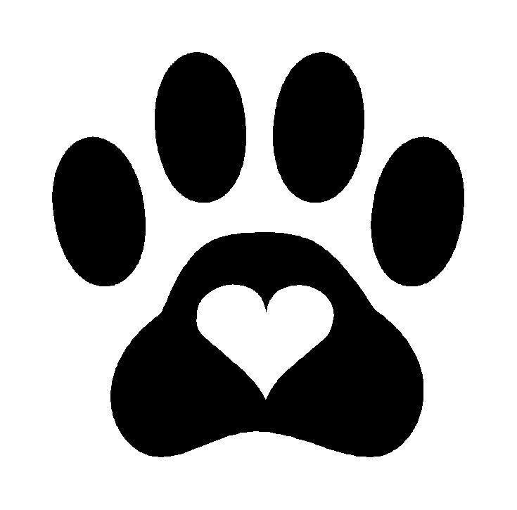 Paw print cute. Logo logodix