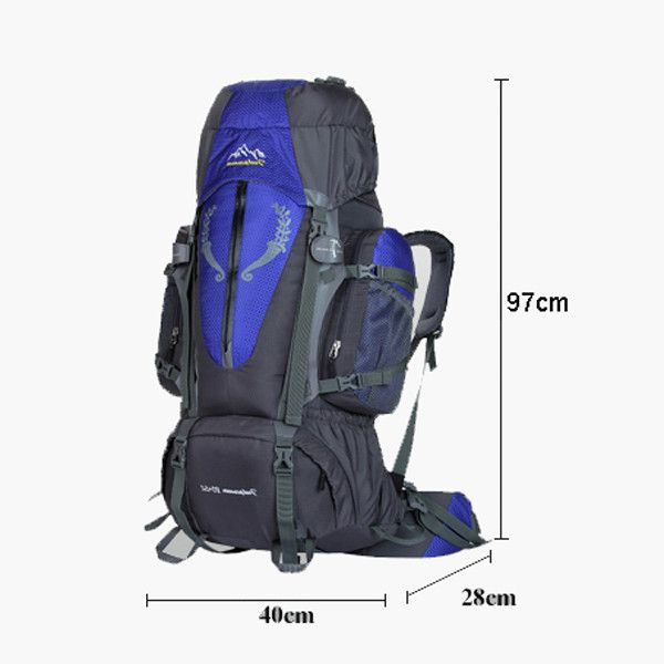 d582172aa6f8ca Backpack with Mountain Logo - Large Capacity Blue Mountain Backpack With  Custom Logo - Buy .