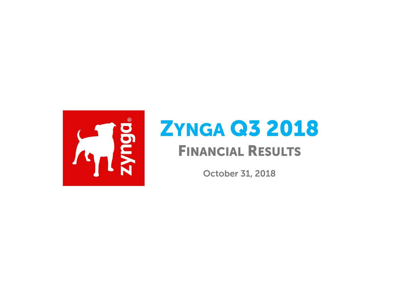 Zynga Logo - Zynga 2018 Q3 - Results - Earnings Call Slides - Zynga (NASDAQ:ZNGA ...