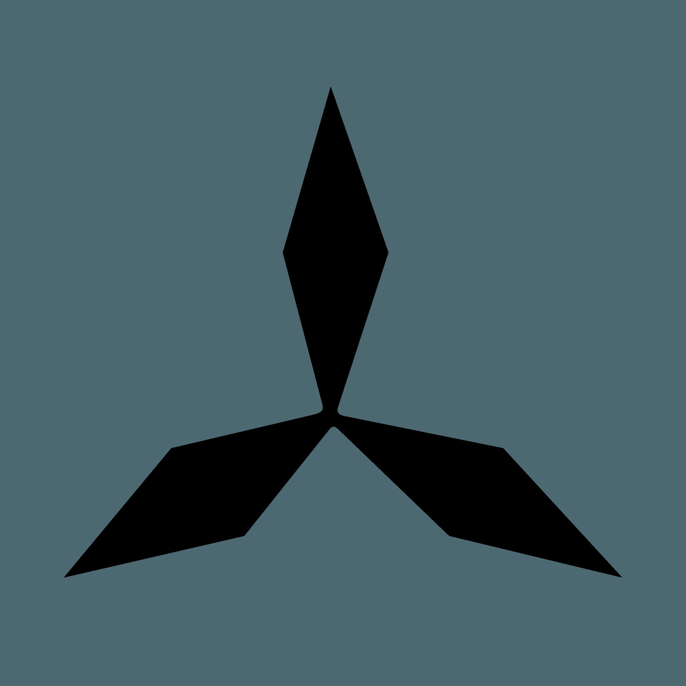 Black and Mitsubishi Logo - LogoDix