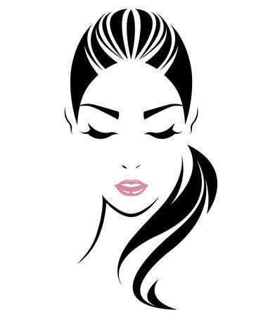Women With Long Hair Logo Logodix