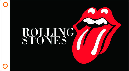 Rolling Stones Tongue Logo - Flag - Rolling Stones - Tongue logo | Gifts | BadBoy.NL