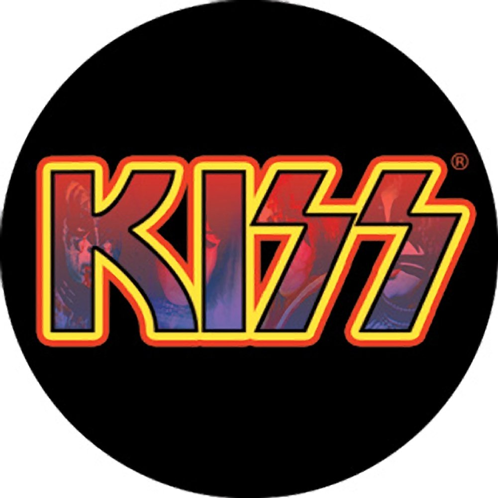 Kiss Logo - The Clash Know Your Rights Button