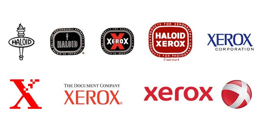 Xerox Logo - The evolution of tech branding over the past century - 99designs