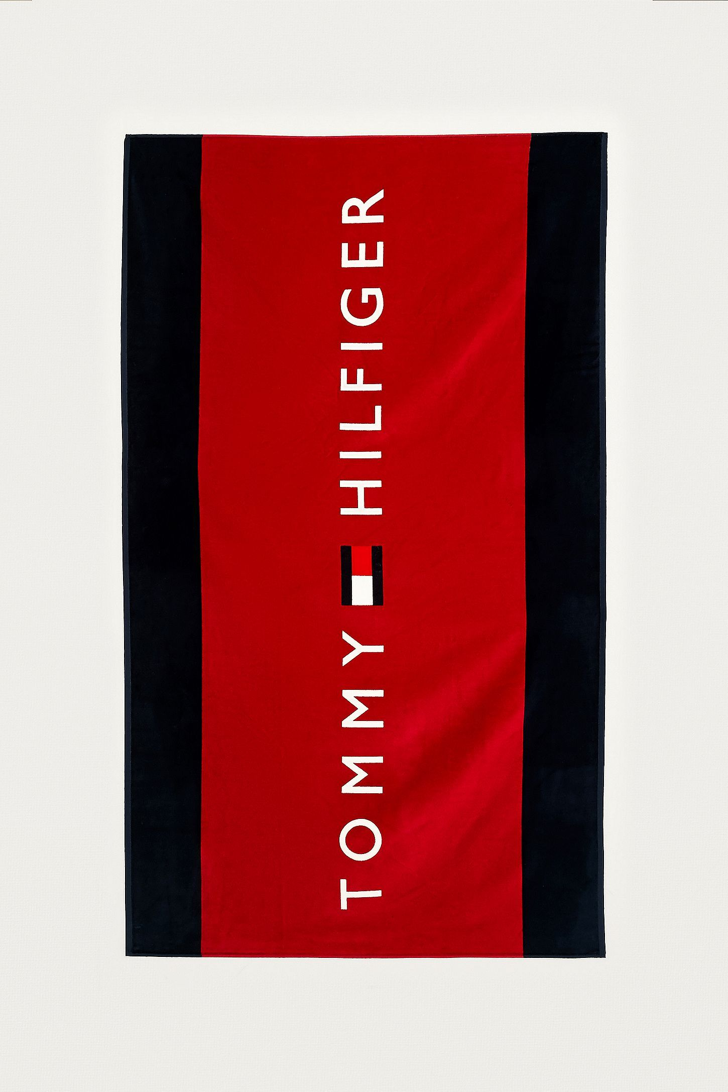 Tommy Hilfiger Logo - Tommy Hilfiger Red Logo Beach Towel | Urban Outfitters UK