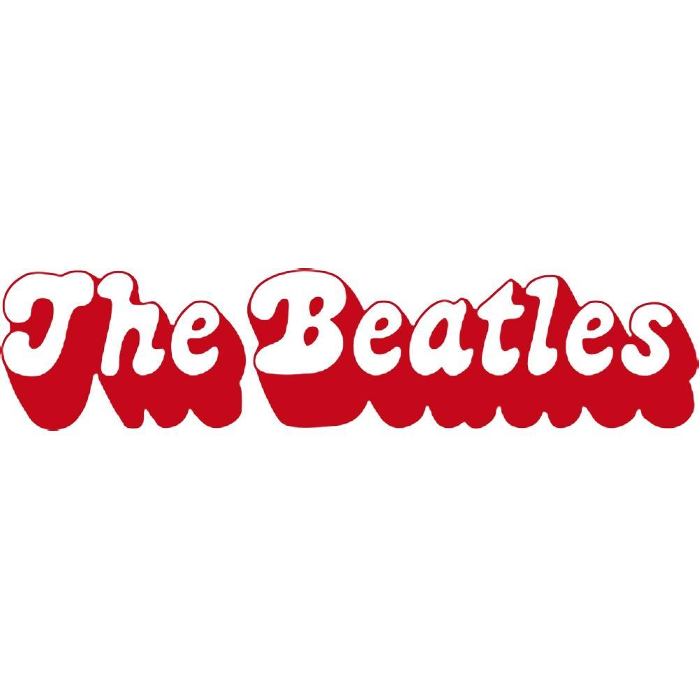 The Beatles Logo - The Beatles 3D Logo Rub-On Sticker - Red