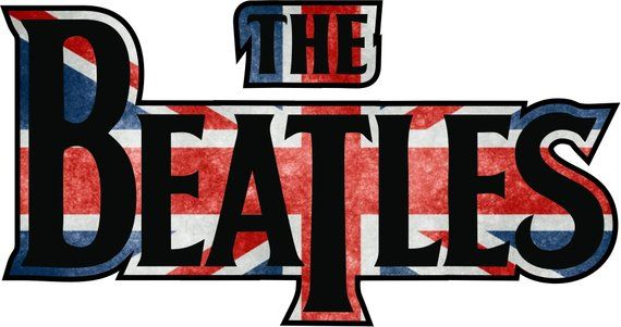 The Beatles Logo - The Beatles Union Jack - Vinyl Sticker Decal - logo full color  indoor/outdoor