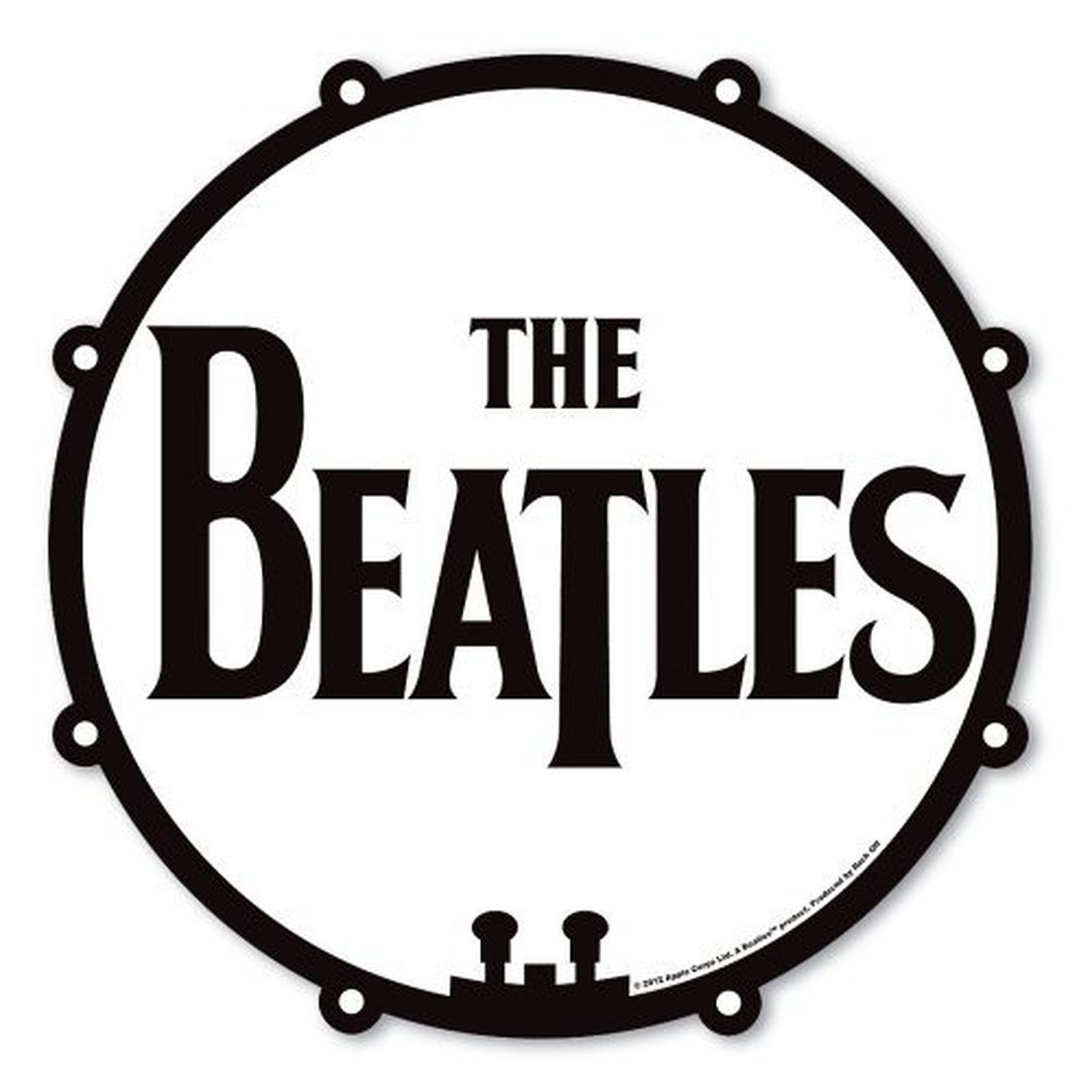 The Beatles Logo - Details about The Beatles Drum Logo Drop T Black White Mouse Mat Gaming Pad  Official Gift Idea
