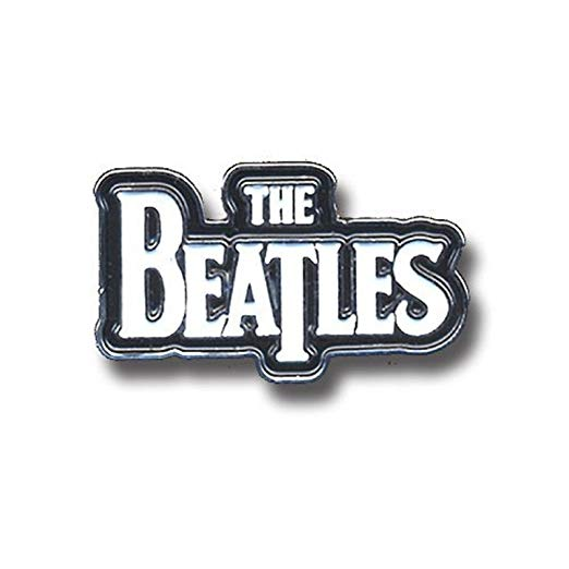 The Beatles Logo - Amazon.com: The Beatles White Drop T Logo Official Metal Pin Badge ...