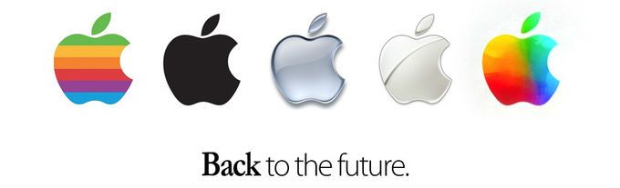 Original Apple Logo - iOS 7 colors may have been inspired by the original Apple logo